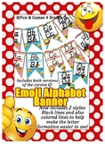 Emoji (Smiley) themed D'Nealian print and cursive Alphabet banner