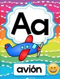 Emoji Spanish alphabet posters (Abecedario)