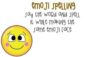 Emoji Spelling Words _suffix ed