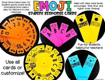 Emoji Student Response Cards | Emoji Silent Response Cards