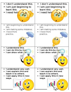 Emoji Student Self Evaluation