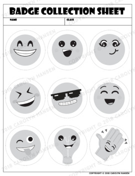 Emoji Style Classroom Badges - Editable and Pre-filled