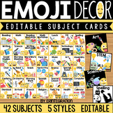 Daily Editable Schedule Cards: Emoji Classroom Decor