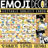 Daily Editable Schedule Cards: Emoji Classroom Decor
