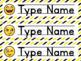 Emoji Name Plates - Editable
