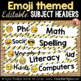 Emoji Subject Headers - Editable