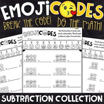 Subtraction Practice | Break the Emoji Code