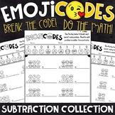 Subtraction Practice   Break the Emoji Code