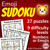 Emoji Sudoku Fun Activity! NO PREP - Just print the PDF