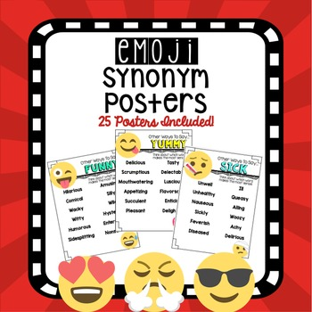 Emoji Synonym Posters