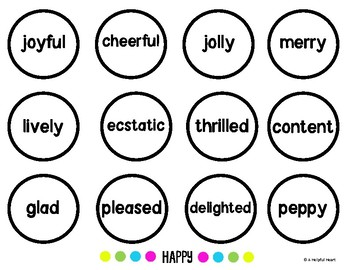 Synonyms & Word Choice Practice - Emoji Style!