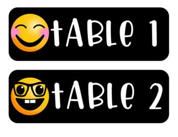 Emoji Table Numbers Decor