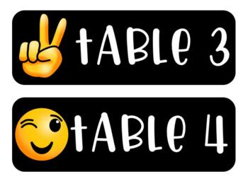 Emoji Decor Table Numbers