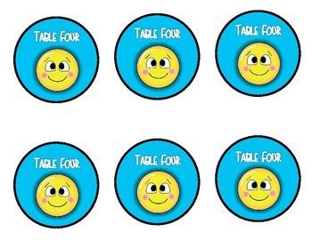 Emoji Table Signs: Freebie