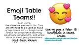 Emoji Table Teams