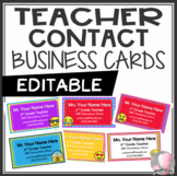 Meet the Teacher Contact Cards Introduction Emoji Theme - PowerPoint