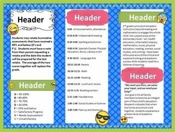 teacher introduction brochure and newsletter template- editable, Modern powerpoint