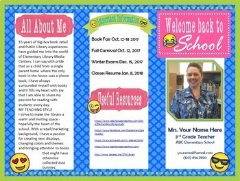 original-3295248-2 Teacher Introduction Newsletter Template on owl theme, for first grade, free preschool,