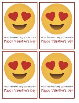 Emoji Teacher Valentines