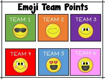 Emoji Team Points
