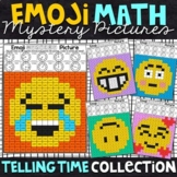 Emoji Telling Time Mystery Pictures | Telling Time Color by Number