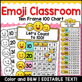 Emoji Ten Frame 100 Chart Editable Classroom Decor