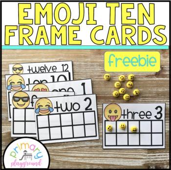 Emoji Ten Frame Cards 1-20