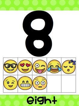 Emoji Ten Frame Posters