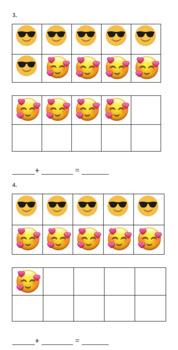 Emoji Tens Frame Addition