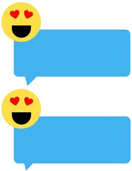 Emoji Text Bubble Classroom Name Tags