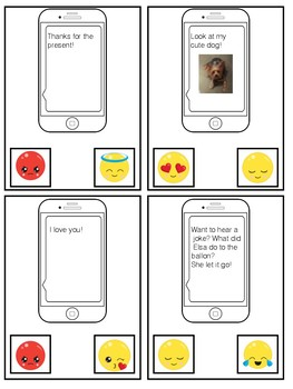 Emoji Text Messaging Task Cards ( Technology Literacy)