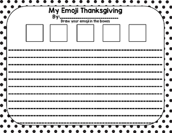 Emoji Thanksgiving Writing Prompt Task Cards