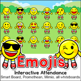 Emoji Theme Attendance with Optional Lunch Count for Interactive Whiteboards