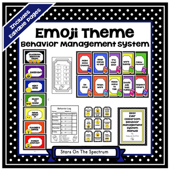 Emoji Theme*Emoji Theme Behavior Management*Emoji Clip Chart