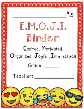 Emoji Theme Binder Covers