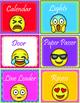 Emoji Theme Classroom Jobs - EDITABLE