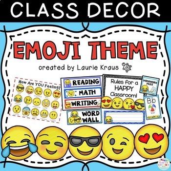 Emoji Theme - Classroom Decor