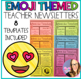 Emoji Theme Editable Teacher Newsletter Templates- Meet th