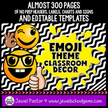 Emoji Theme Classroom Decor EDITABLE (Emoji Classroom Decor)