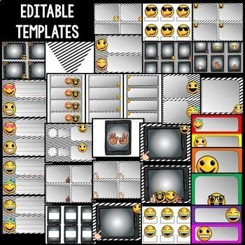 Emoji Theme Classroom Decor EDITABLE (Back to School Emoji Classroom Decor)
