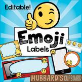 Emoji Theme Classroom Labels