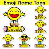 Emoji Theme Name Tags - Classroom Decor