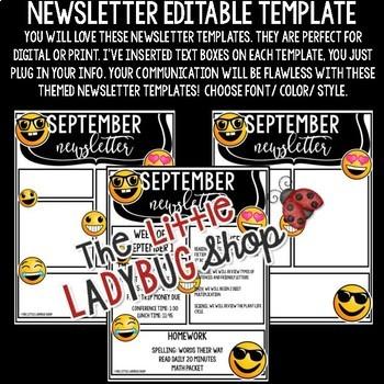 Emoji Theme Newsletter Template Editable - Emoji Back to School Communication