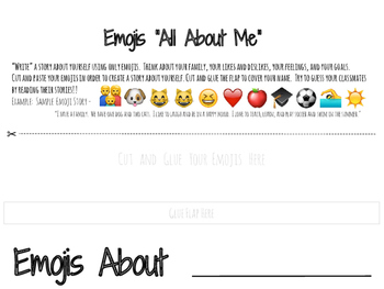 "Emoji Themed ""All About Me"" Activity - FREEBIE"