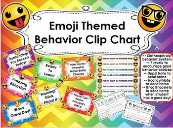 Emoji Themed Behavior Chart