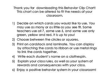 Emoji Themed Behavior Clip Chart - Bright, Colorful Chevron