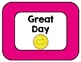 Emoji Themed Behavior Clip Chart - Bright, Colorful Solids