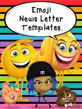 Emoji Themed Class Newsletter {editable} Templates
