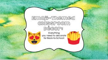 Emoji Themed Classroom Decor
