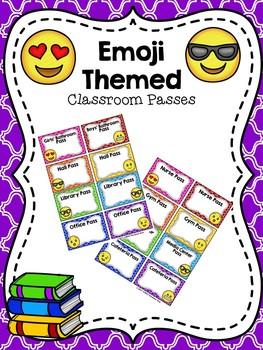 Editable Emoji Themed Classroom Passes